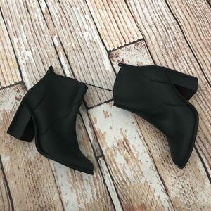 NWT express black heeled cowboy booties
